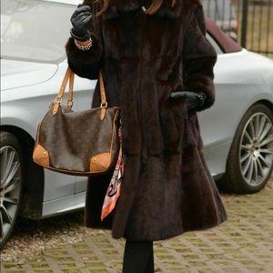 NEW $8K La Furia ROYAL SAGA Mink Fur Swinger Coat